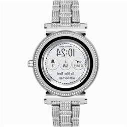 1 New Michael Kors Sofie Pave Silver Tone Touchscreen Smart