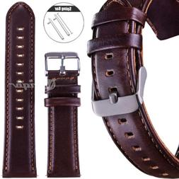 18 20 22mm Quick Release Retro Leather Watch Strap Band for