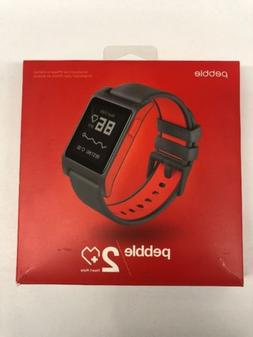 Pebble 2 Heart Rate Smartwatch Black/Flame
