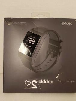 PEBBLE 2 HEART RATE SMARTWATCH FOR IPHONE AND ANDROID BLACK