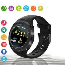 2018 Bluetooth Smart Watch Phone Mate Round Touch Screen SIM
