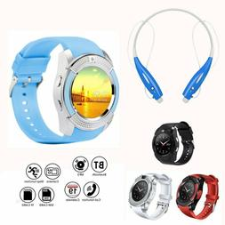 2019 Bluetooth Smart Watch GSM Phone Headset For Android Sam