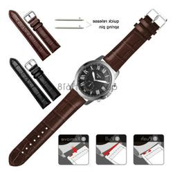 22mm 20mm Crocodile Leather Wristband Watch Band Strap For F