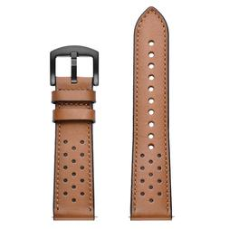 22mm  Leather Watch Band Quick Release Soft Strap for Smart