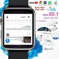 4G LTE Android Smart Watch Phone 32G SIM GPS Mic Buletooth 4