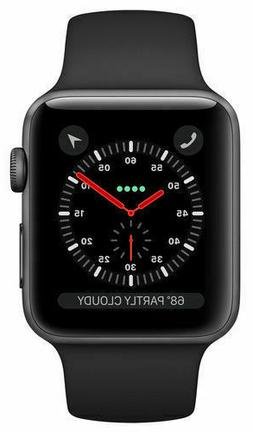 Apple Watch Series 3 38mm Space Gray Aluminium Case with Bla