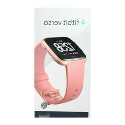 Fitbit Versa Smart Watch, Peach/Rose Gold Aluminium, One Siz