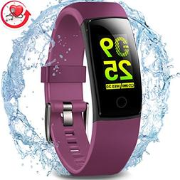MorePro Waterproof Health Tracker, Fitness Tracker Color Scr