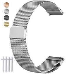 Vetoo 20mm Quick Release Watch Bands, Milanese Magnetic Clos