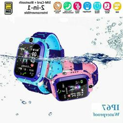 USA Anti-lost Kid Smart Watch SOS Call Camera Waterproof Saf