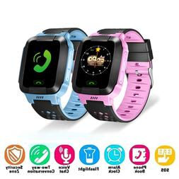 Anti-lost Kids Safe GPS Tracker SOS Call GSM Smart Watch Pho