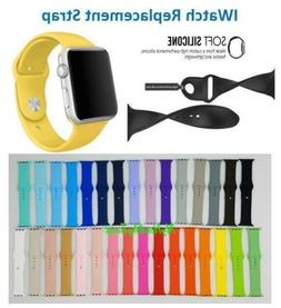 For Apple Watch Series 3/2/1 Silicone Smart Watch Band Strap
