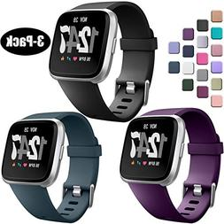 Wepro Bands Compatible with Fitbit Versa SmartWatch, Watch R