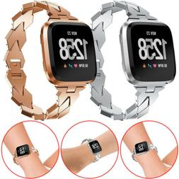 Beauty LADY Stainless Steel Bracelet Watch Band For Fit Fitb
