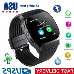 Black Men Smart Watch Women Smartwatch for Samsung Galaxy No