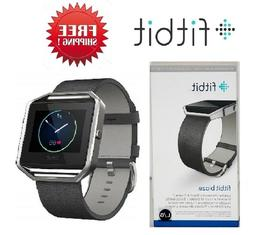 Fitbit Blaze Smart Fitness Watch Activity Tracker Black Leat