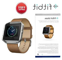 Fitbit Blaze Smart Fitness Watch FB502 Brown Camel Leather A