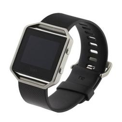 FitBit Blaze Smart Fitness Watch Large Black and Blue Bands