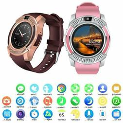 Bluetooth Smart Men Women Watch Wrist Phone Mate Touch Scree