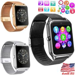 Bluetooth Smart Watch Phone Camera For Android Samsung LG HT