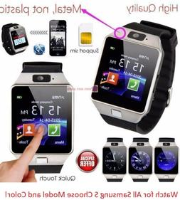 Bluetooth Wireless Smart Watch with Sim For Samsung S5 S6 Ed