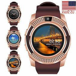 Bluetooth Wrist Smart Watch Unlocked Cell Phone For Samsung