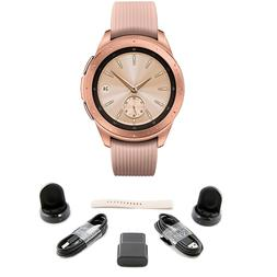 BUNDLE Samsung Galaxy Bluetooth Watch 42mm Rose Gold SM-R810