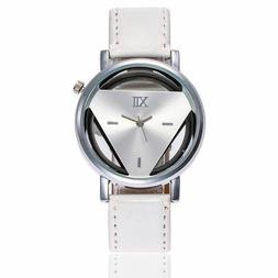 Clock Watches Women Fashion Dress Ladies Leather Stainless W