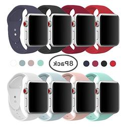 AdMaster Compatible for Apple Watch Band 38mm, Soft Silicone