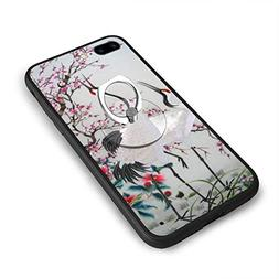 RONG FA Crane Plum Blossom Chinese Style Apple Cell Phone Ca