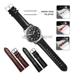 Crocodile Leather Wrist Watch Band Strap For Fossil Q Smart
