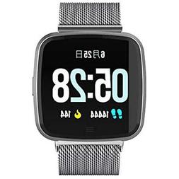 DTNO.I Clips Arm & Wristbands Square Sport Smart Watch Fitne