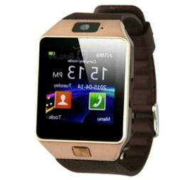 DZ09 GOLD SMART WATCHES Bluetooth Phone SIM Camera For Andro
