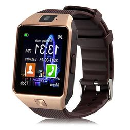 Padgene DZ09 Bluetooth Smart Watch with Camera Gold