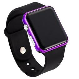 Fashion LED Digital Women Watches Acrylic Band Electronic Wo