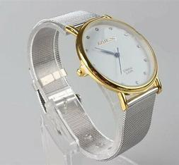 Fashion Women's Ladies Watches Crystal Stainless Steel Analo