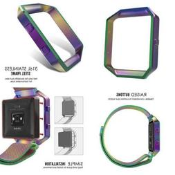 Moko Fitbit Blaze Band Frame Stainless Steel Replacement Met