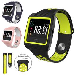 For Fitbit Ionic Ion Smart Watch Band Soft Silicone Rubber W