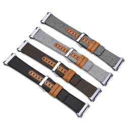 Fitbit Ionic Smart Watch Bands Fabric + Leather Band Sport S