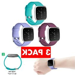 Fitbit Versa Replacement Bands 3 PACK Smart Watch Sport Band