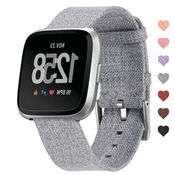For Fitbit Versa Smart Watch Replacement Woven Canvas Nylon