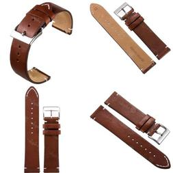 For Fossil Smart Watches 18 20 22mm Quick Release Leather Wa