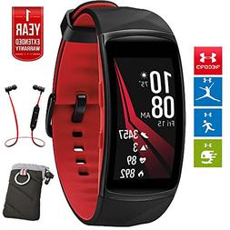 Samsung Gear Fit2 Pro Fitness Smartwatch - Red, Small  + Fus