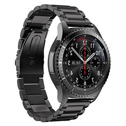 Gear S3 Frontier Band XL/Large,Oitom Premium Solid Stainless