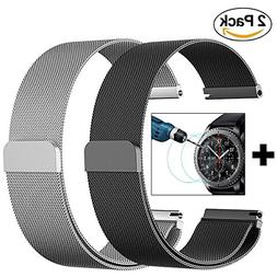 Gear S3 Frontier/Classic Watch Band - 22mm Stainless Steel M