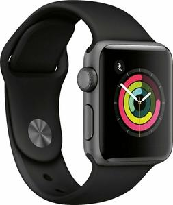 NEW Apple Watch Series 3 38MM GPS Space Gray Aluminum Case B