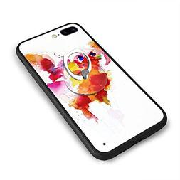 RONG FA Happy Red Color Pig Apple Cell Phone Case for 8 Plus