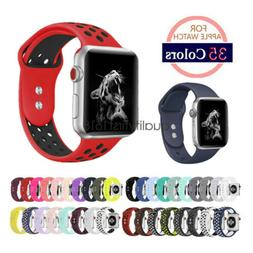 Hot Soft Silicone Sport Watch Band Strap For Apple Watch iWa