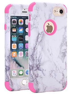 iPhone 7 Case, iPhone 8 Case, SUMOON  Hybrid Heavy Duty Thre