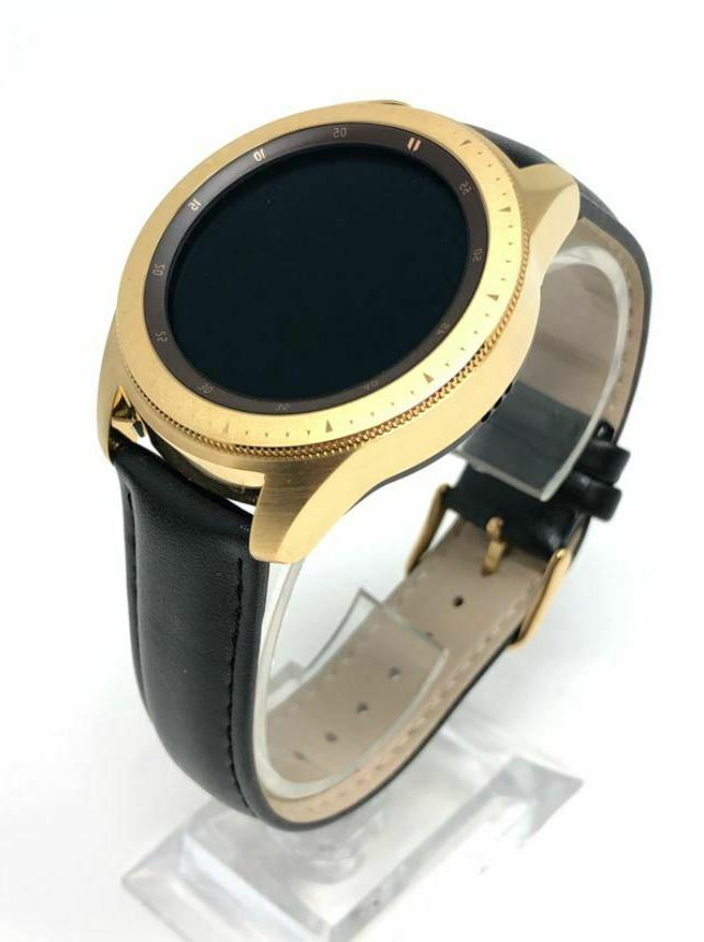 24k gold plated 42mm galaxy watch gold